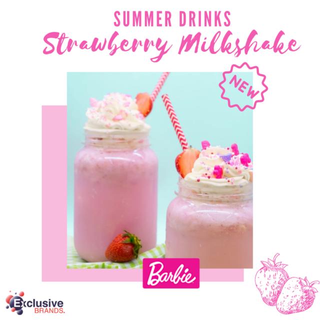 Summer Drinks: Strawberry Milkshake!